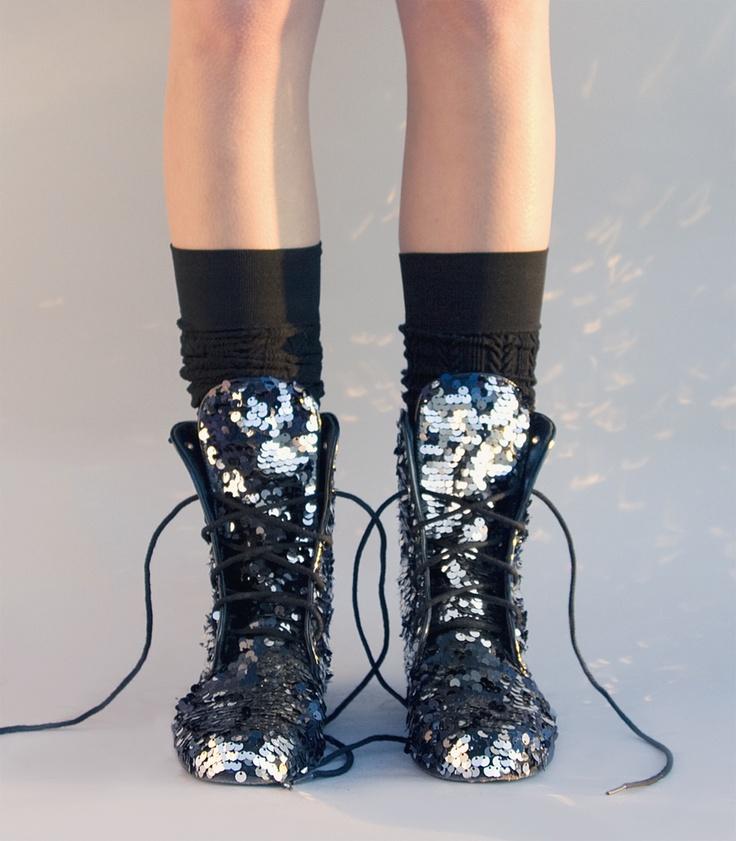 fabulous combat boots sequins that shimmer