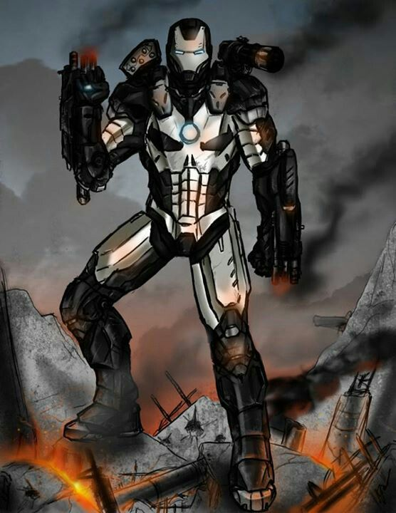 Iron man punisher mash up character redesign presented by