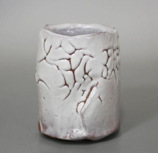 "兼田昌尚作 刳貫湯呑 / ""Japanese pottery"" Kurinuki yunomi by Kaneta Masanao"
