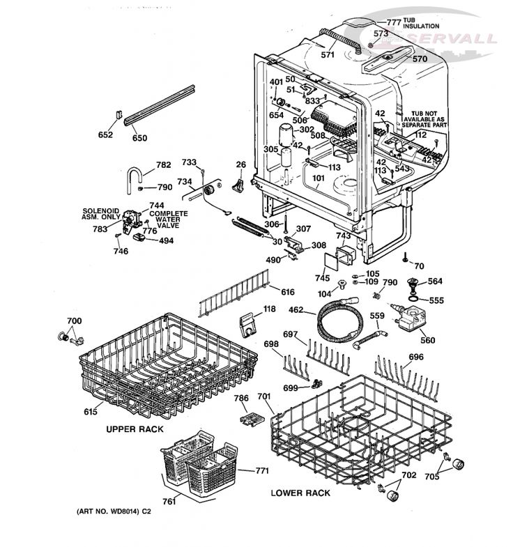 Wiring Diagram  29 Ge Profile Dishwasher Parts Diagram
