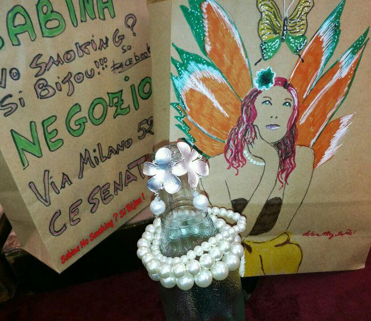 Orecchini e bracciali di perle Vetrina #sabinanosmokingsibijou