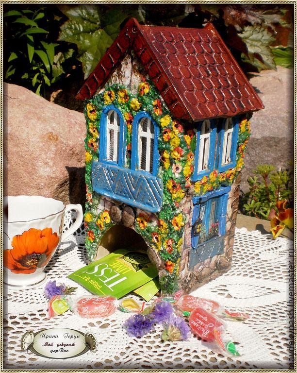 """Купить Чайный домик """"Летний сад"""" - разноцветный, чайный домик декупаж, чайный домик"""
