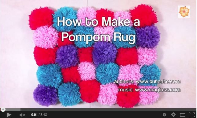 pom pom rug video tutorial ideas for the house pinterest