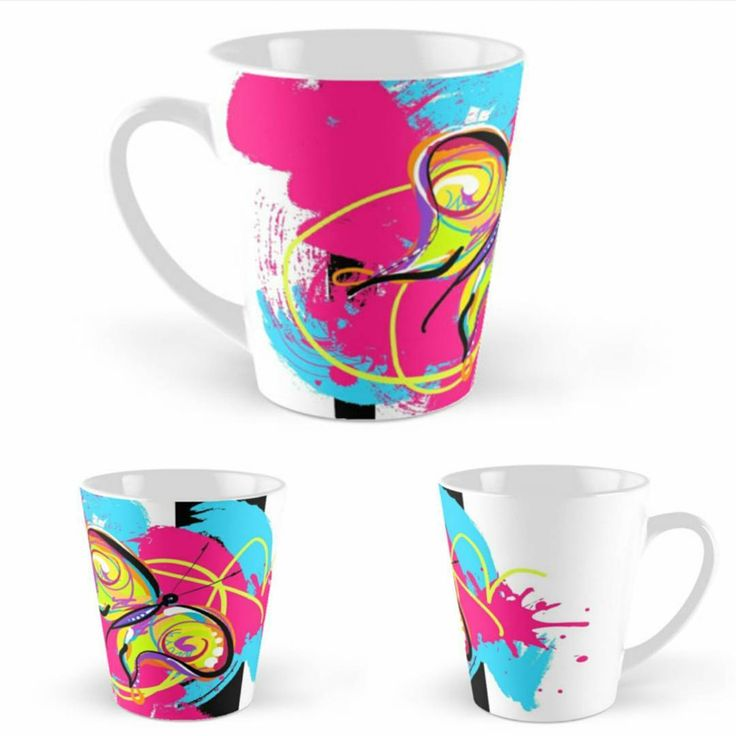 COLOR burst your life! #UseArt ...this if from Dare to FLY colection :) #uniqueartem #personalize #butterfly #daretofly #joy #artwork #colorful #colorburst #artsy #handdrawn #illustration #digitalart #mug #homedecor #hotpink #cyan #fly #freedom