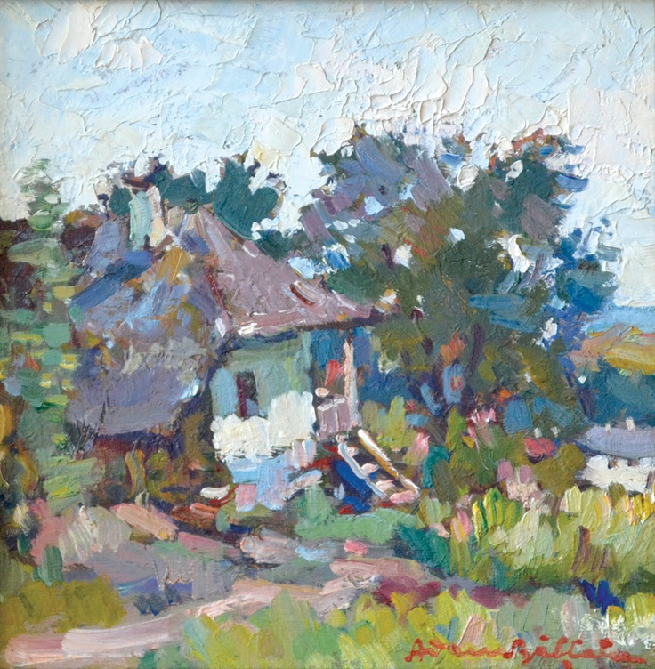 Adam Bălțatu - Casa Vânătorului la Văratec    Lucrarea face parte dintr-o serie de 6 picturi, confiscate în perioada comunistă și recuperate recent de la Muzeul Municipiului București.