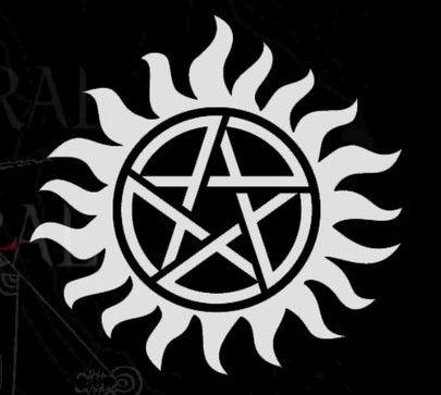 símbolos de protecao supernatural enorme | Símbolo usado nas tatuagens dos irmãos Winchester