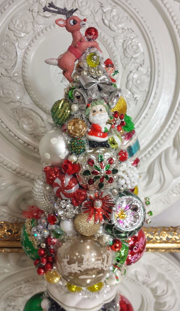 Bristle brush ornaments - Ms Bingles Vintage Christmas Disney S Frozen Christmas Display And More Bottle Brush Tree S