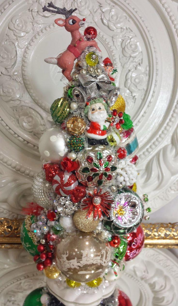 Mrs potts chip christmas decoration - Ms Bingles Vintage Christmas Disney S Frozen Christmas Display And More Bottle Brush Tree S