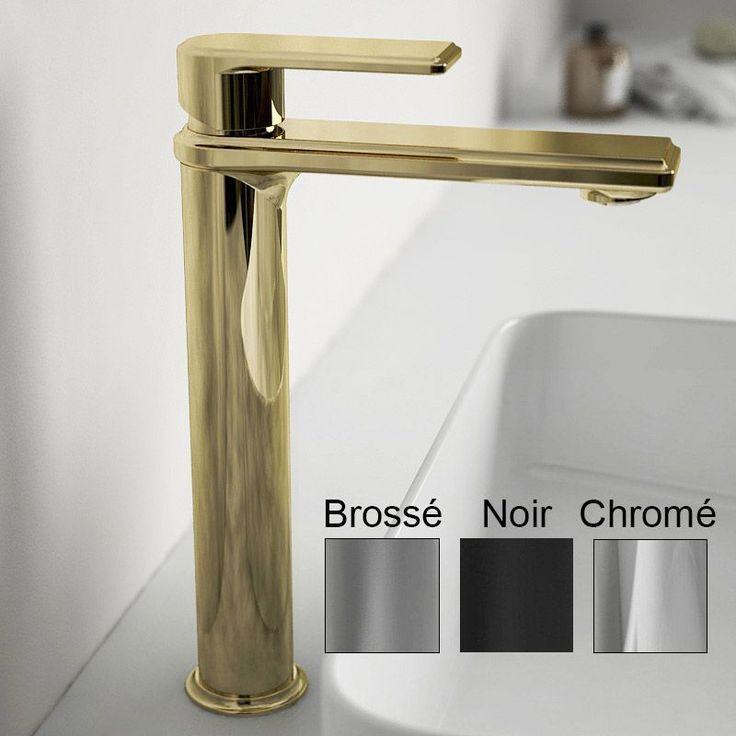 Robinet mitigeur lavabo haut, Monceau, 4 finitions