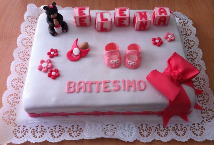 #torta #battesimo #cake #christening #rosa #fucsia #ciuccio #scarpine #fiori #orsetto #fiocco #cakedesign #chiryscakes
