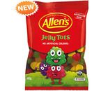 A bulk box of 12 packs of Allens Jelly Tots lollies.