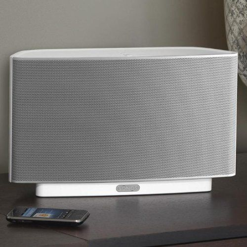 SONOS - PLAY:5 Wireless Speaker for Streaming Music (Large) -  White - http://www.audiovideocabledeals.com/home-theater/home-theater-wireless-speakers-free-shipping-on-wireless-speakers/sonos-play5-wireless-speaker-for-streaming-music-large-white/