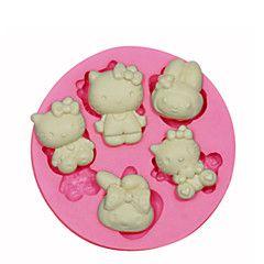 Olá molde vaquinha silicone decoração do bolo de silicone para artesanato doces fondant jóias argila resina pmc