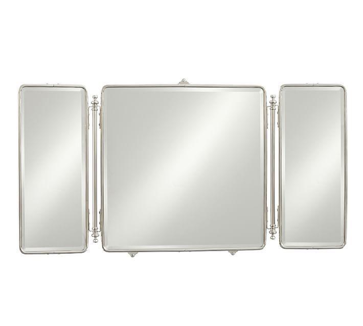 Vintage Tri Fold Mirror 47 X 25 Trifold Mirror Trifold Mirror Bathroom Bathroom Mirror Frame