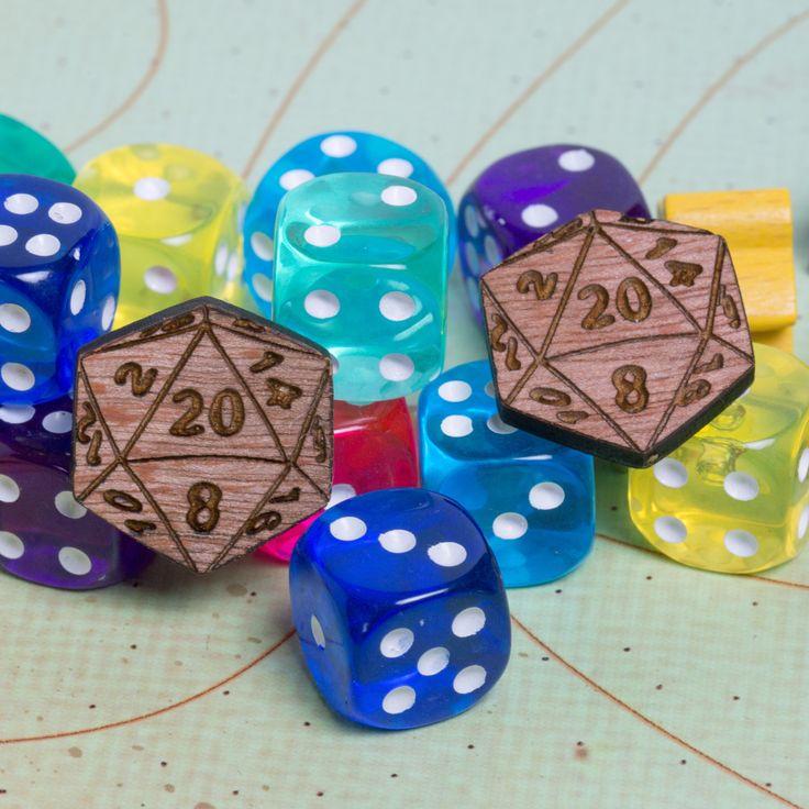 D20 Dice cufflinks – gift for geeks, gamers, RPG fans, dungeon game, nerds, sartorial nerd, geek wedding, alternative wedding cufflinks