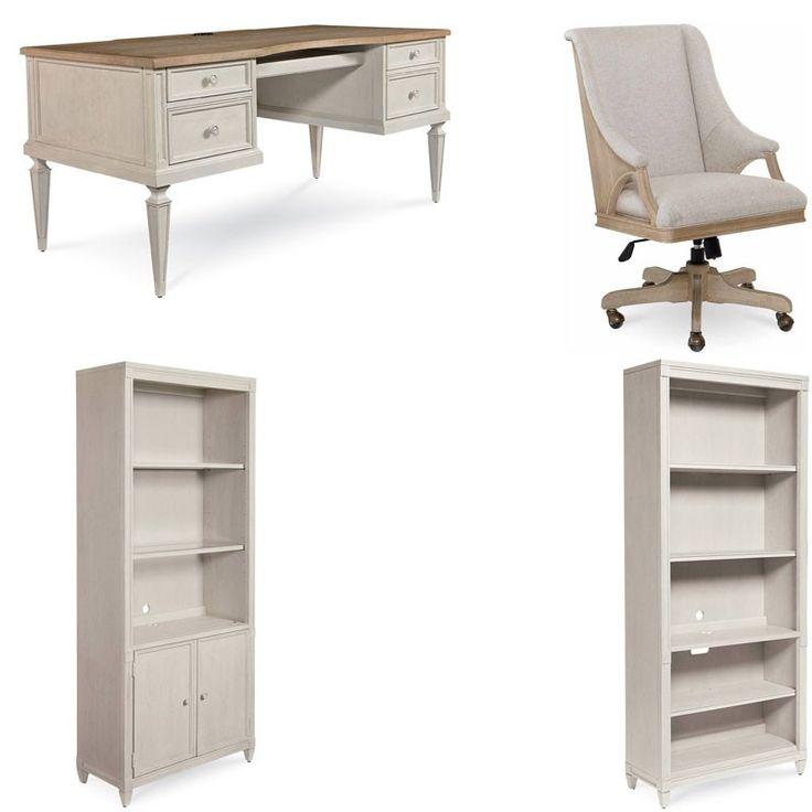 ART Furniture - Roseline 4 Piece Brown Nora Executive Desk Set - 248821-2340-4SET