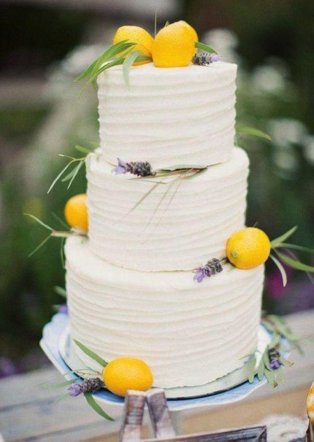 Citrus and Herb Wedding Cake