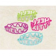 Hello Kitty Rainbow Rubber Bracelets Favors, Pkt4, $7.95, A394486