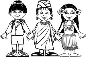 coloriages des enfants du monde