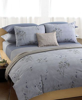 Calvin Klein Bamboo Flowers Queen Fitted Sheet Fitted