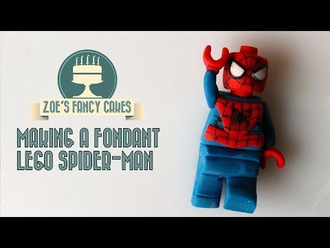 How to make a fondant lego Robin superhero How To Tutorial Zoes Fancy Cakes - YouTube