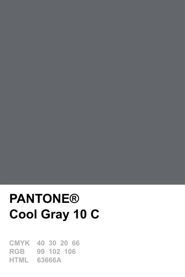 Pantone Cool Gray 10 C