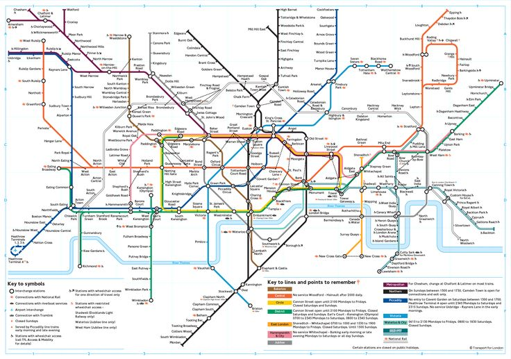 London tube map with walk lines