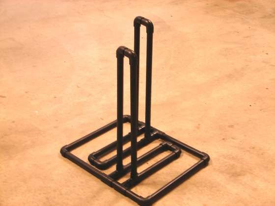 Bike rack made from PVC