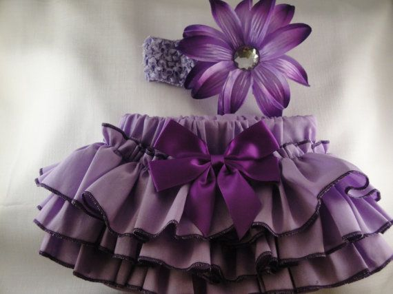 NEW Lavender Sassy Ruffle Diaper Cover Ruffle Bloomer Panty and Matching Headband  $26.99