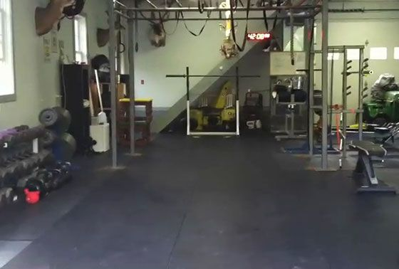 Crossfit garage gym tour home in love and we
