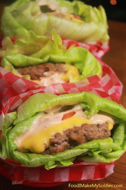 Lettuce Wrapped Cheeseburgers.