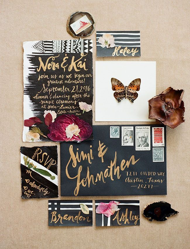 Bohemian Black Tie Wedding Inspiration from the