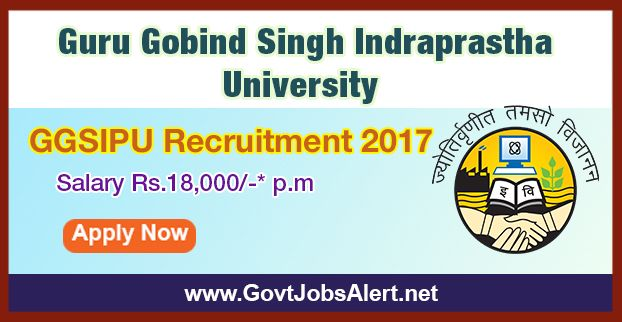 """GGSIPU Recruitment 2017 - Hiring  Project Fellow Post, Salary Rs.18,000/- : Apply Now !!!  The Guru Gobind Singh Indraprastha University – GGSIPU Recruitment 2017 has released an official employment notification inviting interested and eligible candidates to apply for the positions of Project Fellow under IUAC project entitled """"Investigation of the thermoluminescence properties of the doped perovskite materials with ion beam irradiation""""."""