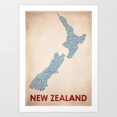 New+Zealand+Art+Print+by+Wordmaps+-+$24.96