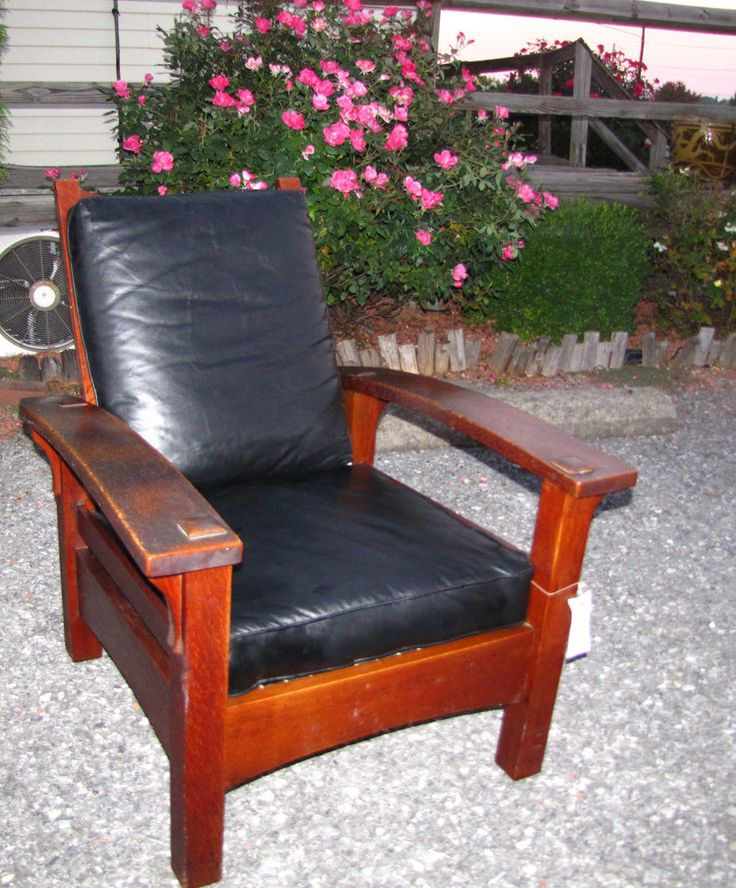 SUPERB antique GUSTAV STICKLEY Bow Arm EARLY Morris Chair w2949 - 30 Best Furniture Stickley, Mission, Arts & Crafts Images On