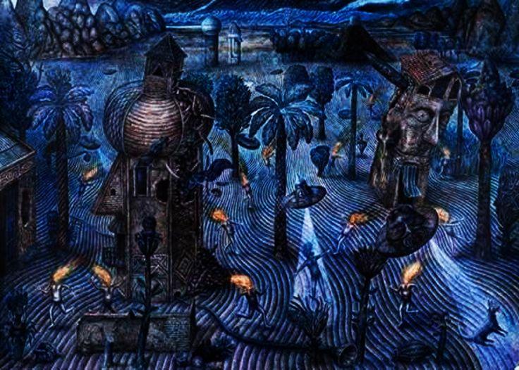 Arte caotico y onirico de Martín Sapia(Argentina)