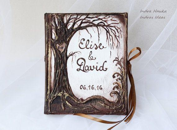 Rustikale Hochzeit Gästebuch Baum des von Indrasideas auf Etsy