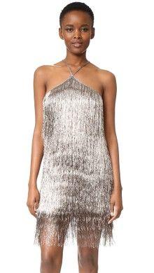 Rachel Zoe Della Fringe Metallic Mini Dress   SHOPBOP