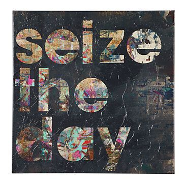 Prop this at your desk to keep you motivating on a sluggish morning. Seize the Day, $39.95