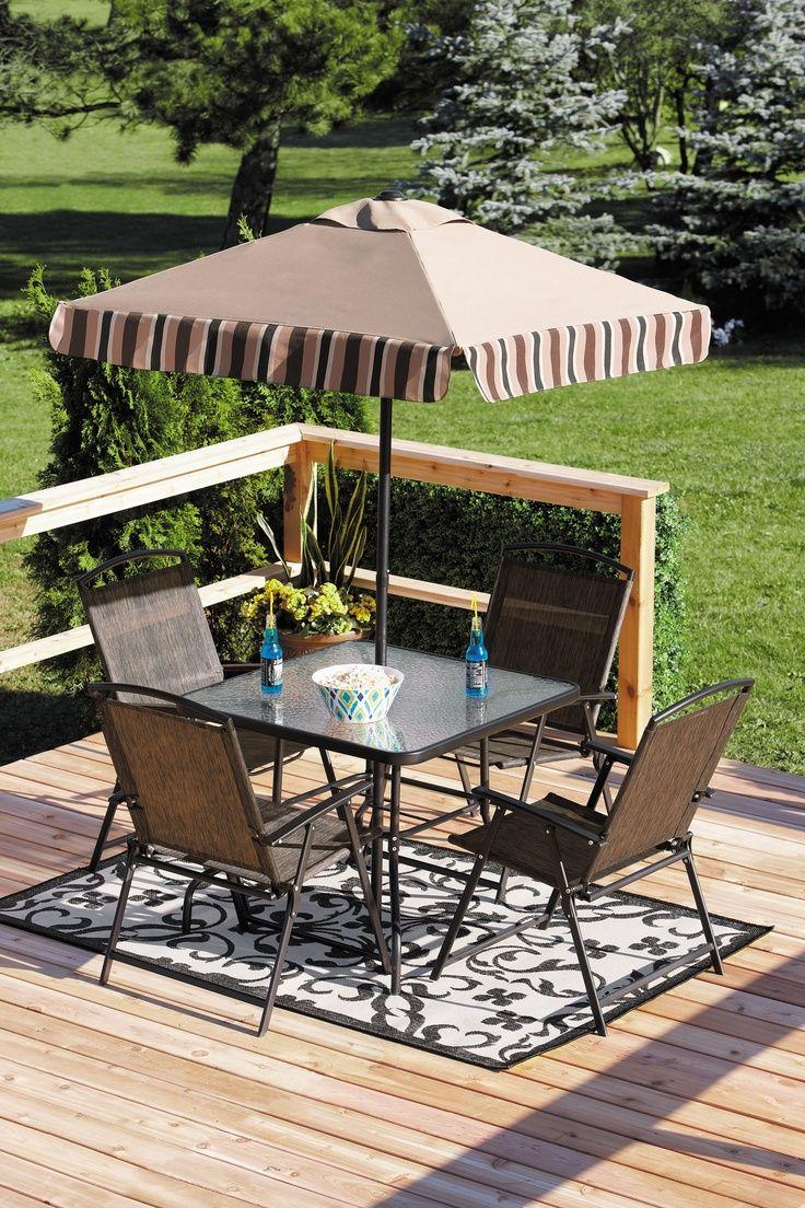 Download Wallpaper Patio Table Set With Umbrella Walmart