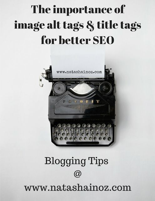 The importance of image alt tags & title tags for better SEO via @natashainozblog