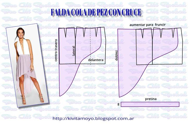 KiVita MoYo: FALDA COLA DE PEZ CON CRUCE