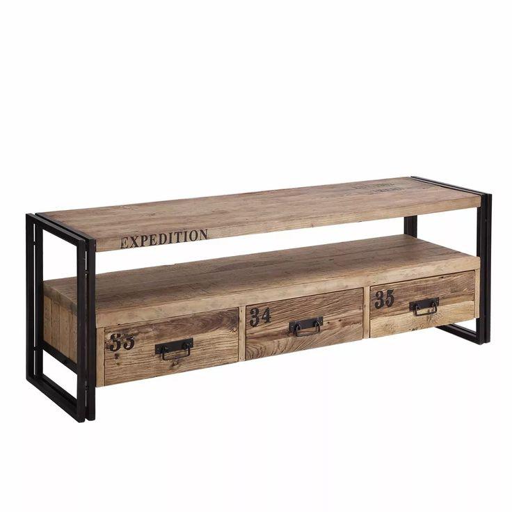 Mueble para tv lcd led estilo industrial Mesas industriales vintage