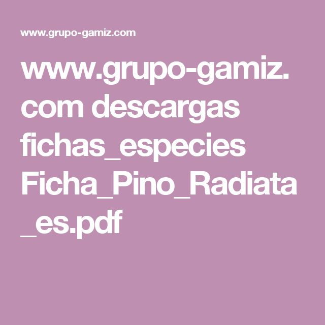 www.grupo-gamiz.com descargas fichas_especies Ficha_Pino_Radiata_es.pdf