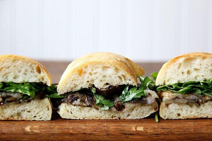 Balsamic-Roasted Eggplant and Arugula Sandwiches recipe on Food52