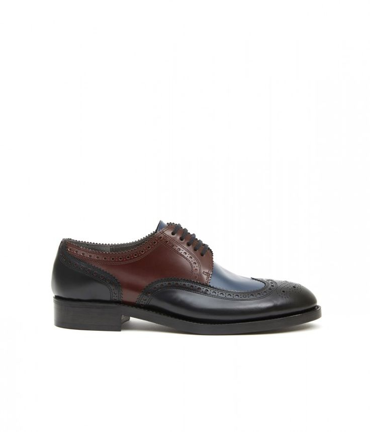 SIR ROEL Perforated toe-cap derby in smooth calf, handmade goodyear stitch leather sole. #robertclergerie #derby #roel #goodyearstitch