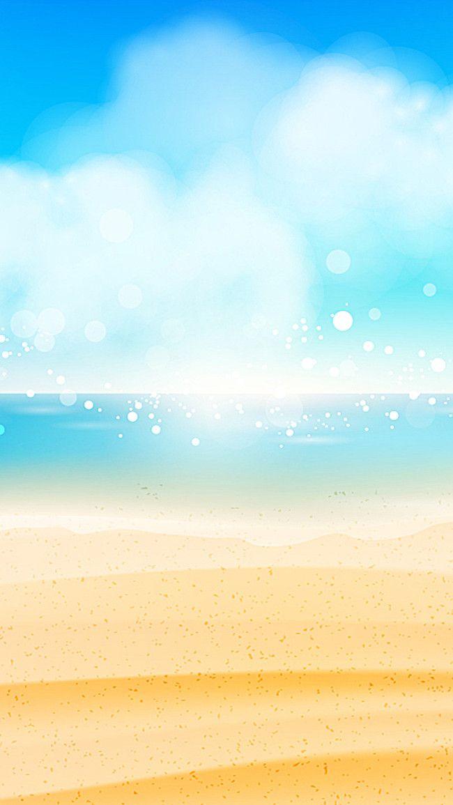 O Ceu Azul De Fundo Vector Metafile H5 Praia Dinheiro Desenho