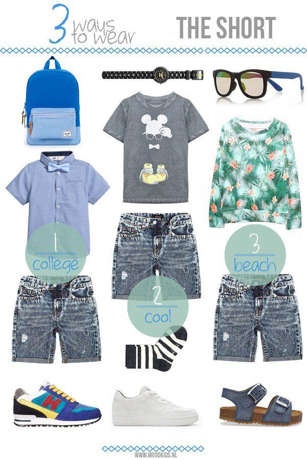 3 ways to wear... the short. #boys #doctorfashion #moodkids http://www.moodkids.nl/trend/fashion-trend/2015/04/29/hoe-draag-je-een-short