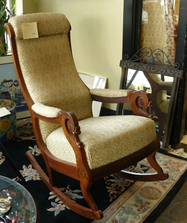 Vintage Upholstered Rocking Chair Is Variously Designed. Here Are Some  Photos Of Vintage Upholstered Rocking Chairs.