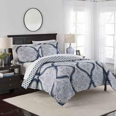 Marble Hill Lotus Reversible 3-Piece Comforter Set